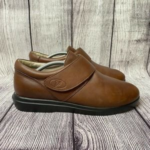 Propet Brown Leather Comfort Loafers Shoes Size 8